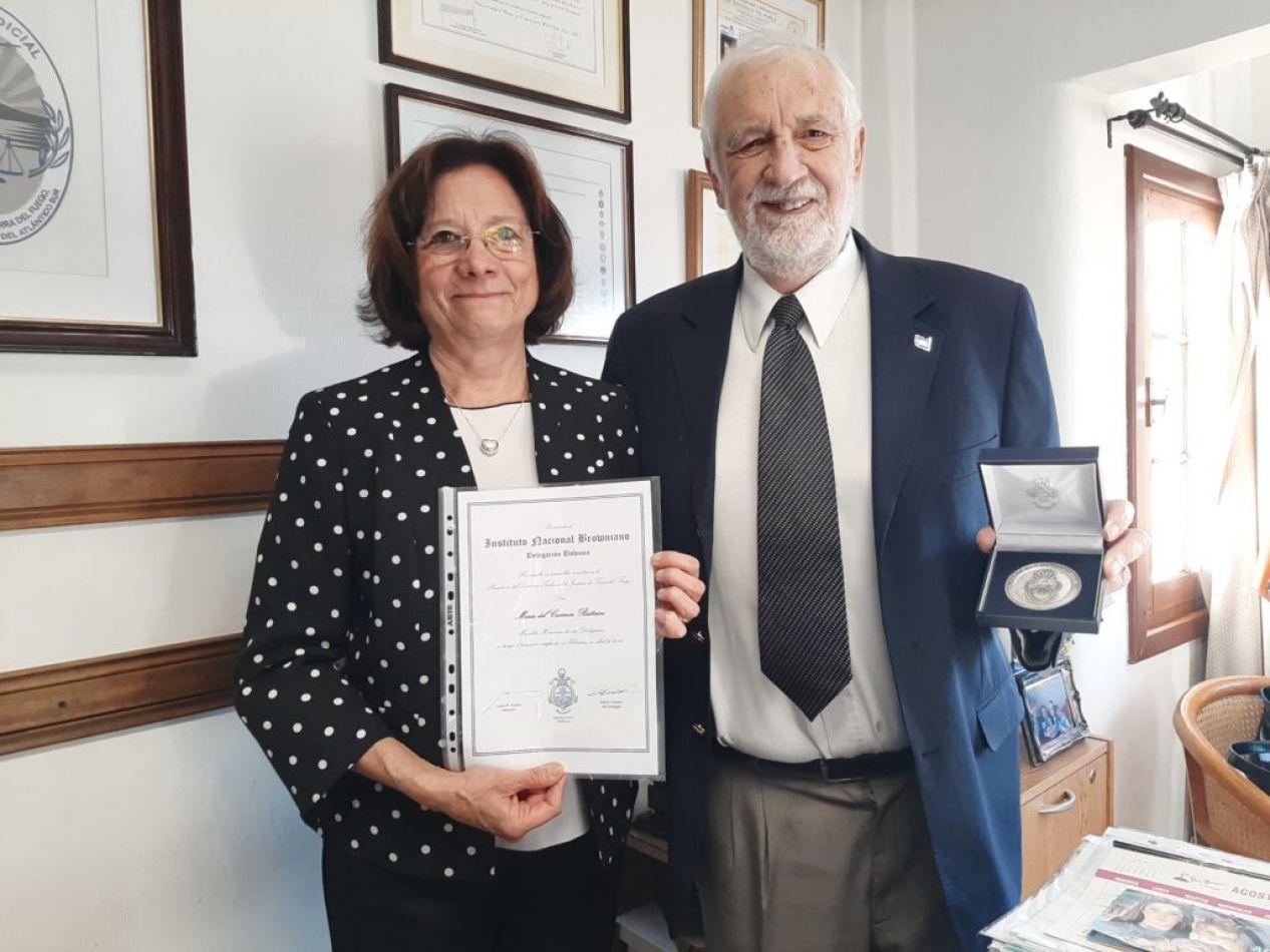 La presidente del Superior Tribunal de Justicia, Doctora María del Carmen Battaini, recibió en su despacho Carlos Pombo