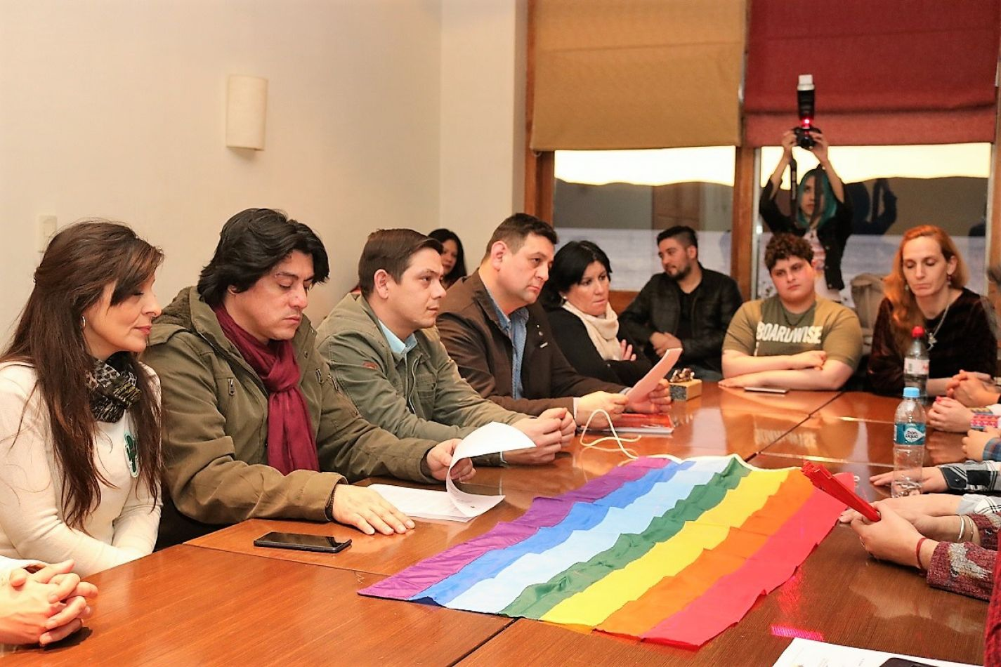 Concejales de Tolhuin recibieron a integrantes de colectivos LGBTI+