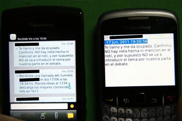 El mensaje es de la subsecretaria Restovich, confirmando que Canal 13 no iba a difundir la denuncia.