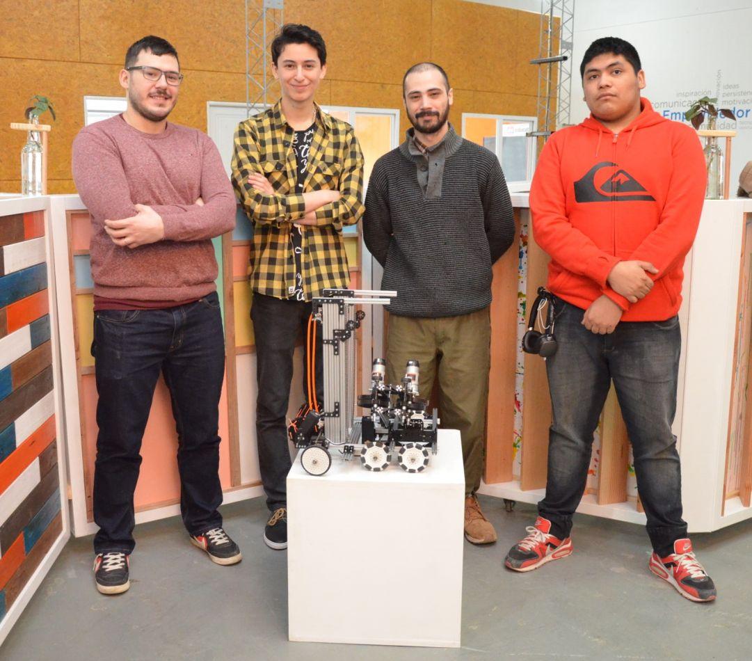 El equipo Jaukoren, integrado por cinco jóvenes que se capacitan y entrenan en el Espacio para el Desarrollo Laboral y Tecnológico