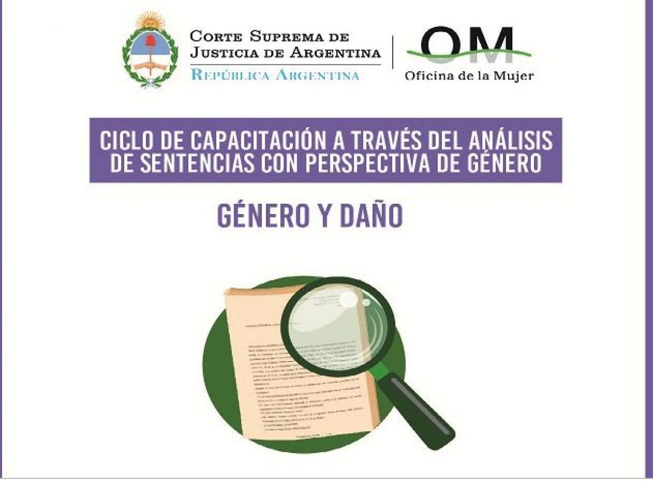 """Ciclo de Capacitación Videoconferencia """"Género y Daño"""""""