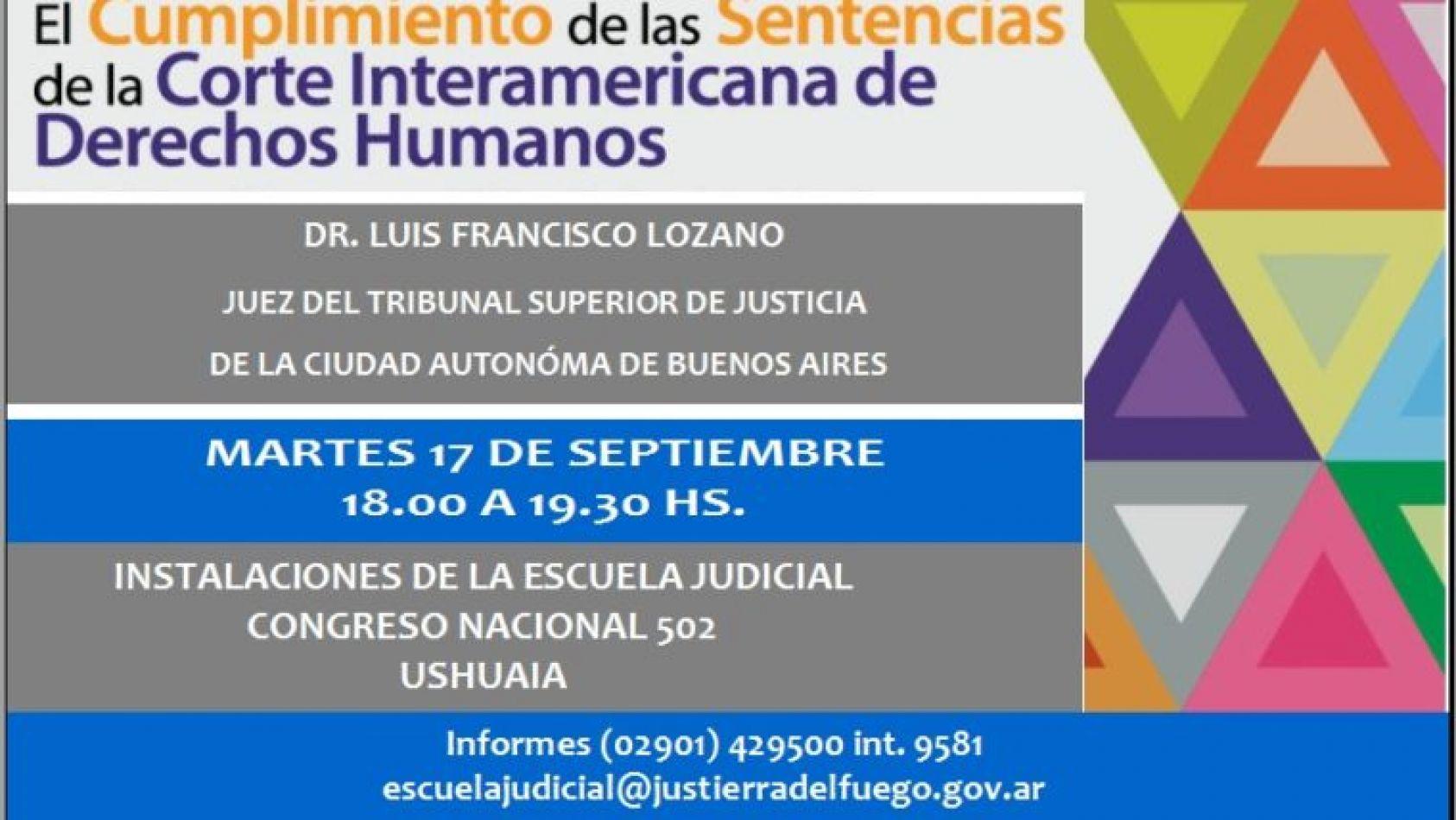 El Doctor Luis Francisco Lozano disertará en Ushuaia