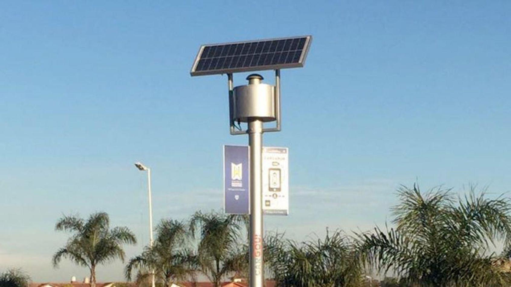 La DPE isntalará cargadores solares para celulares