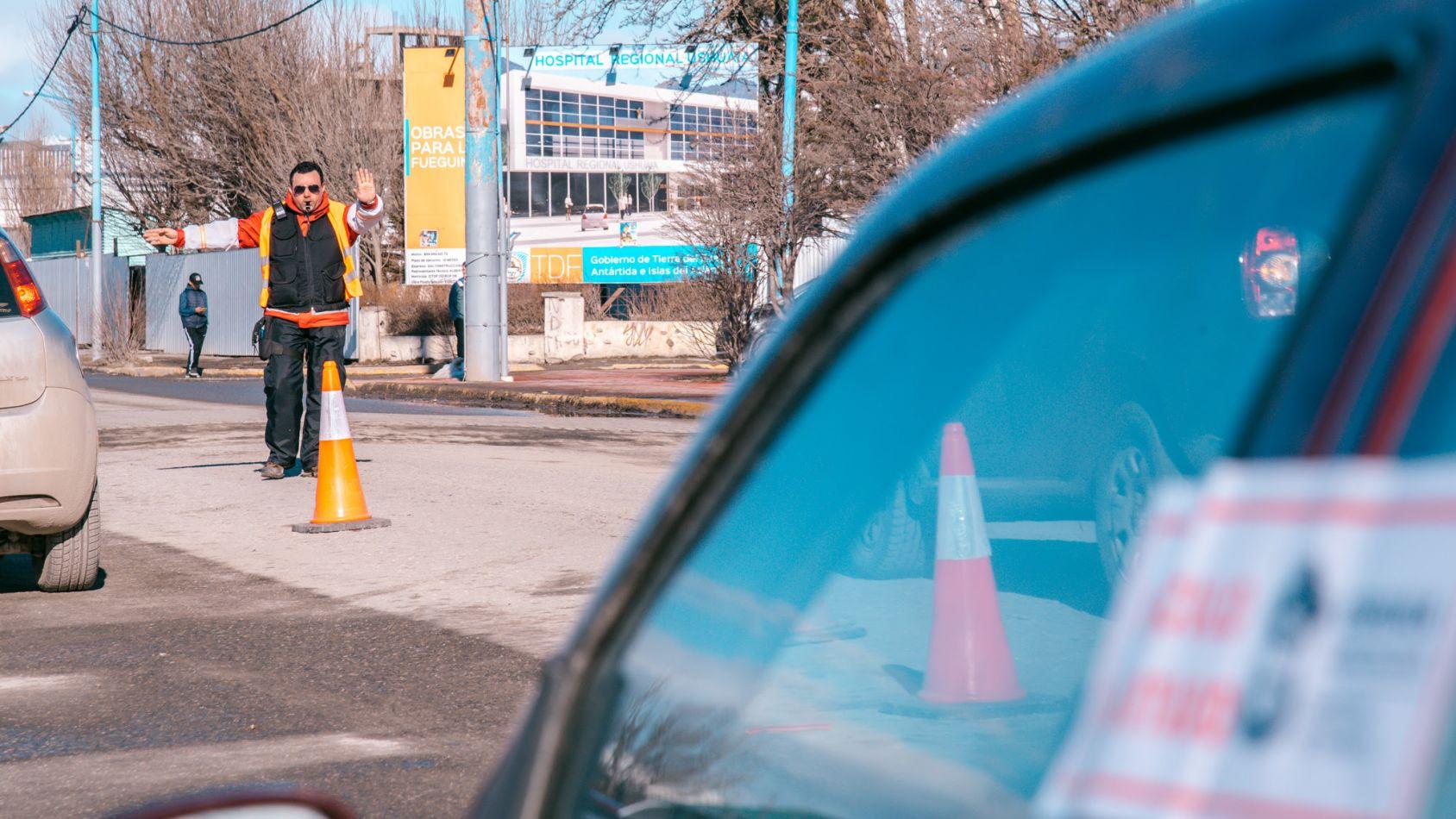 Personal de tránsito de la ciudad de Ushuaia