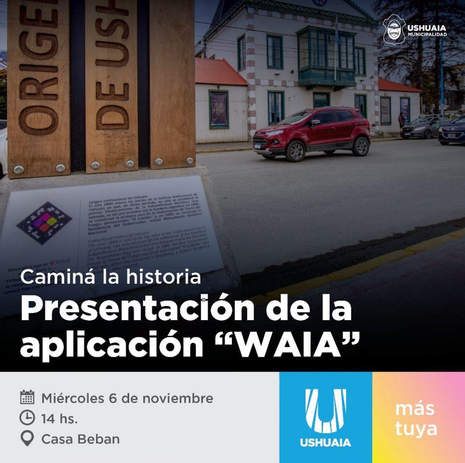 La aplicación para dispositivos móviles Waia se presentará en la Casa Beban