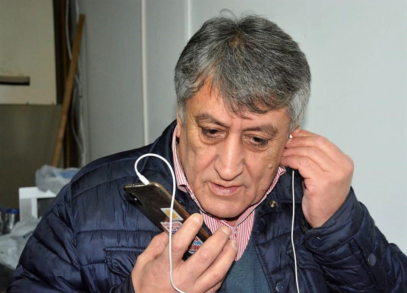 Claudio Queno, intendente de Tolhuin.