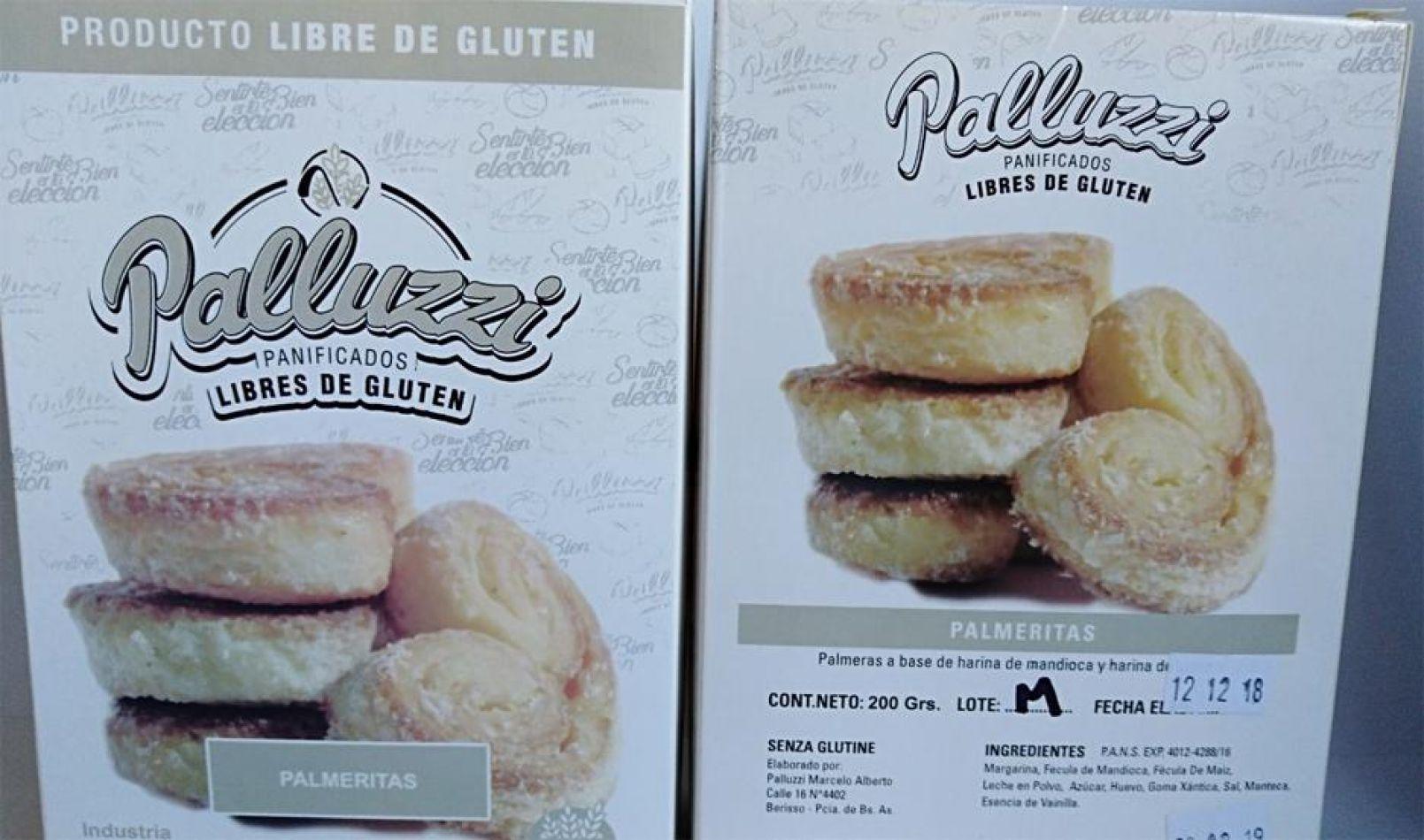 Prohiben el consumo de los panificados libres de gluten marca Palluzzi