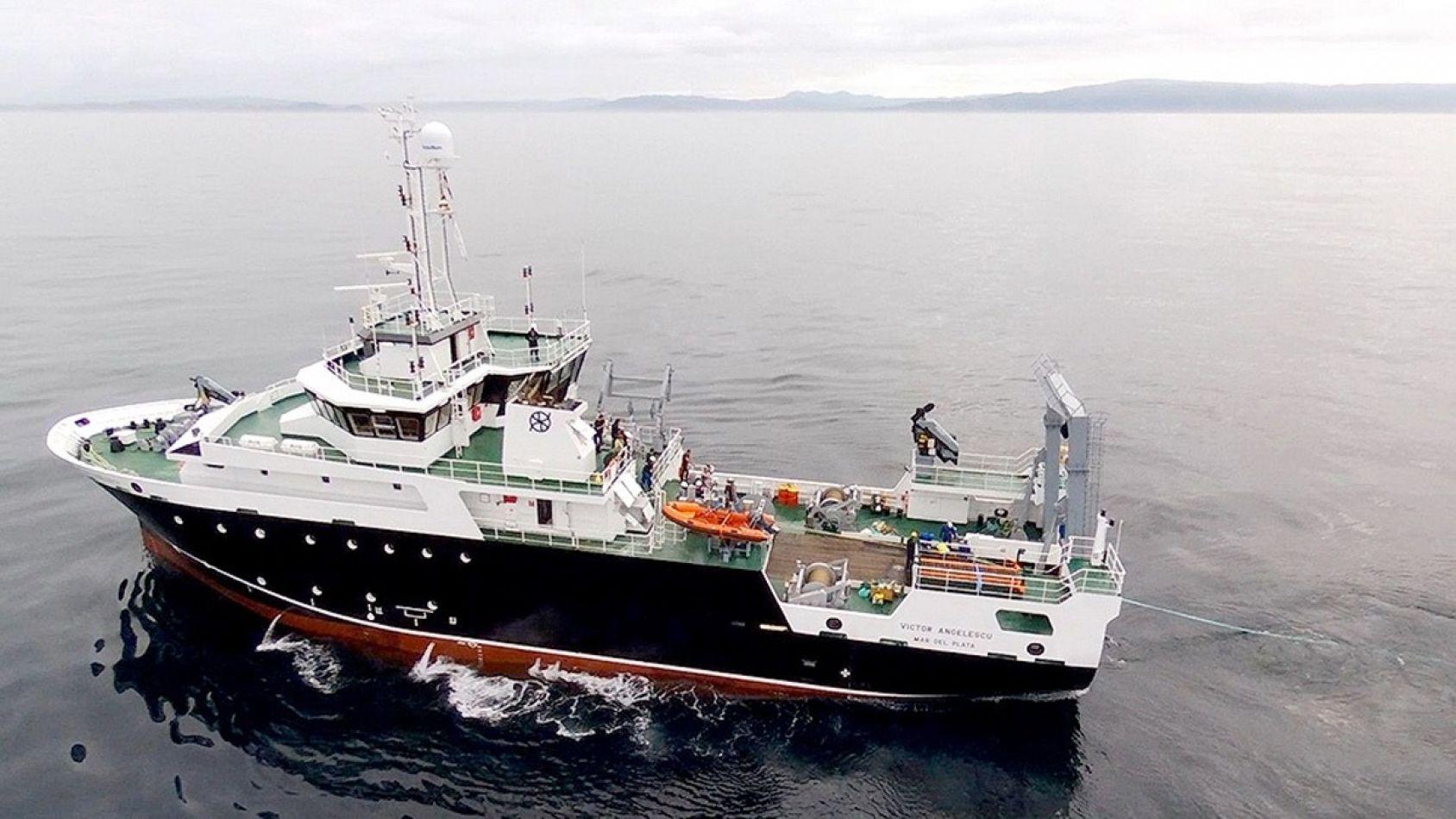 La embarcación argentina Víctor Angelescu, del INIDEP, partirá desde Ushuaia con una tripulación científica compuesta por 16 investigador