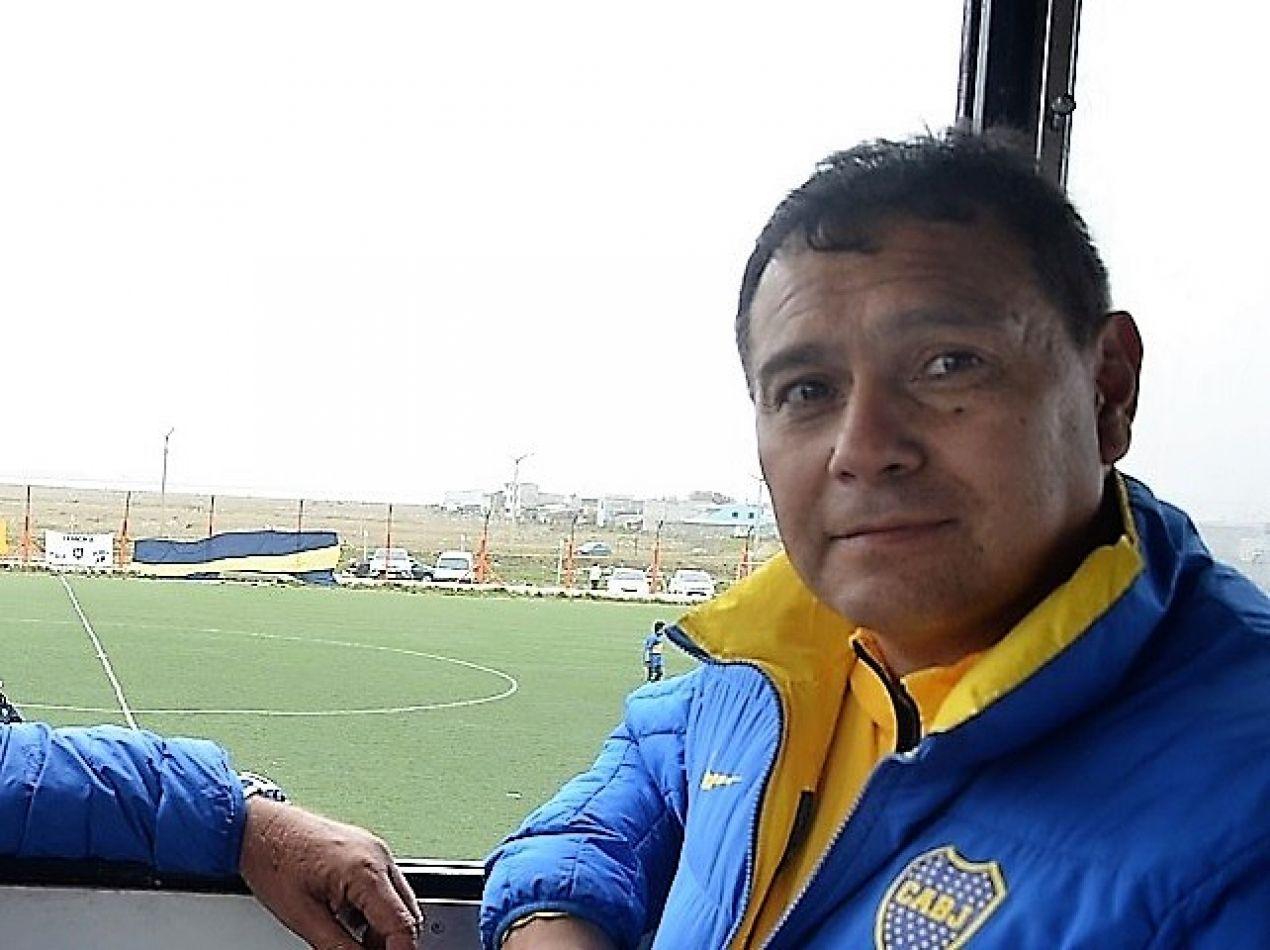 Roque Lorenzatto, presidente de la Peña Boca 2 de Abril.