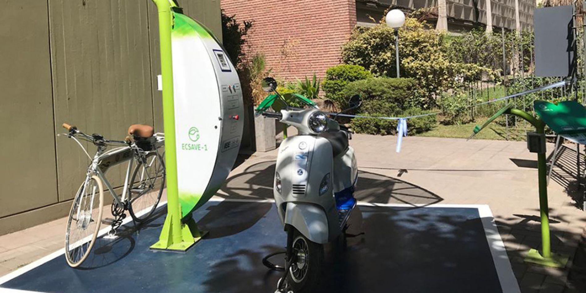 Estación de carga solar autónoma de vehículos eléctricos del país