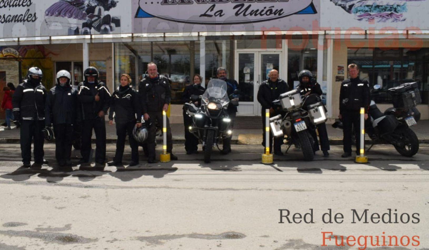Motoqueros cordobeses, de paso por Tierra del Fuego