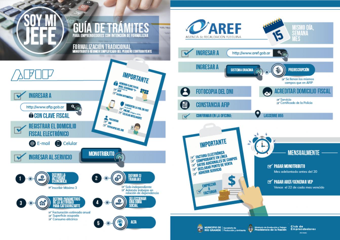 El municipio de Río Grande lanzó la guía de trámites para emprendedores