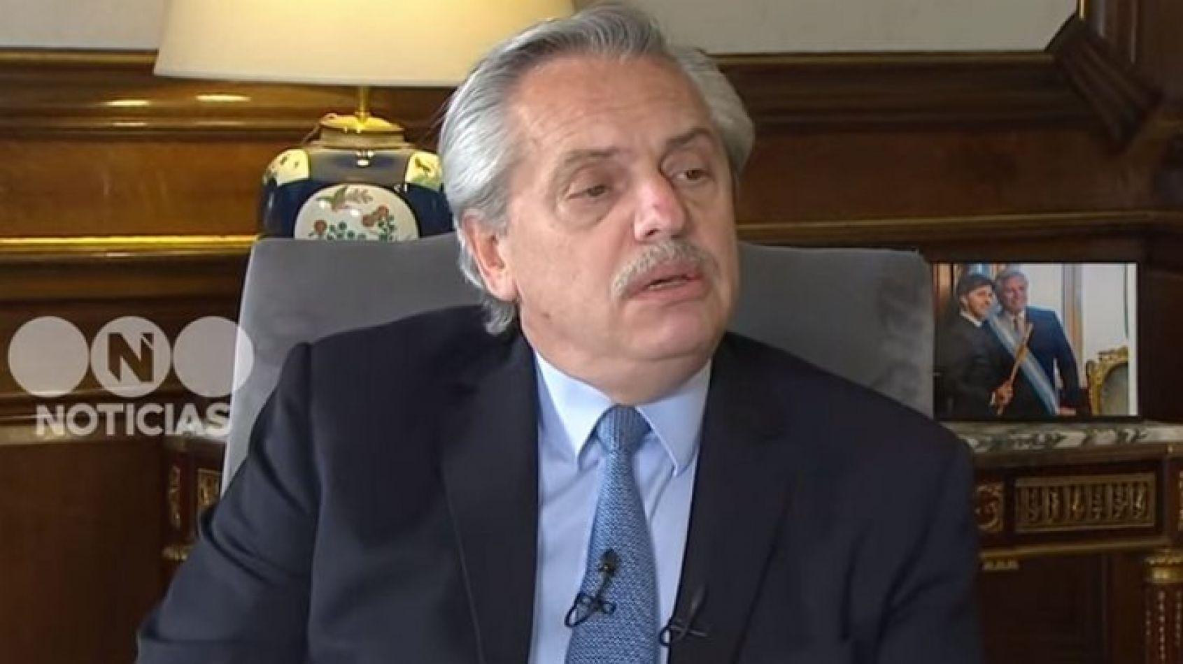 Alberto Fernández en Casa Rosada.