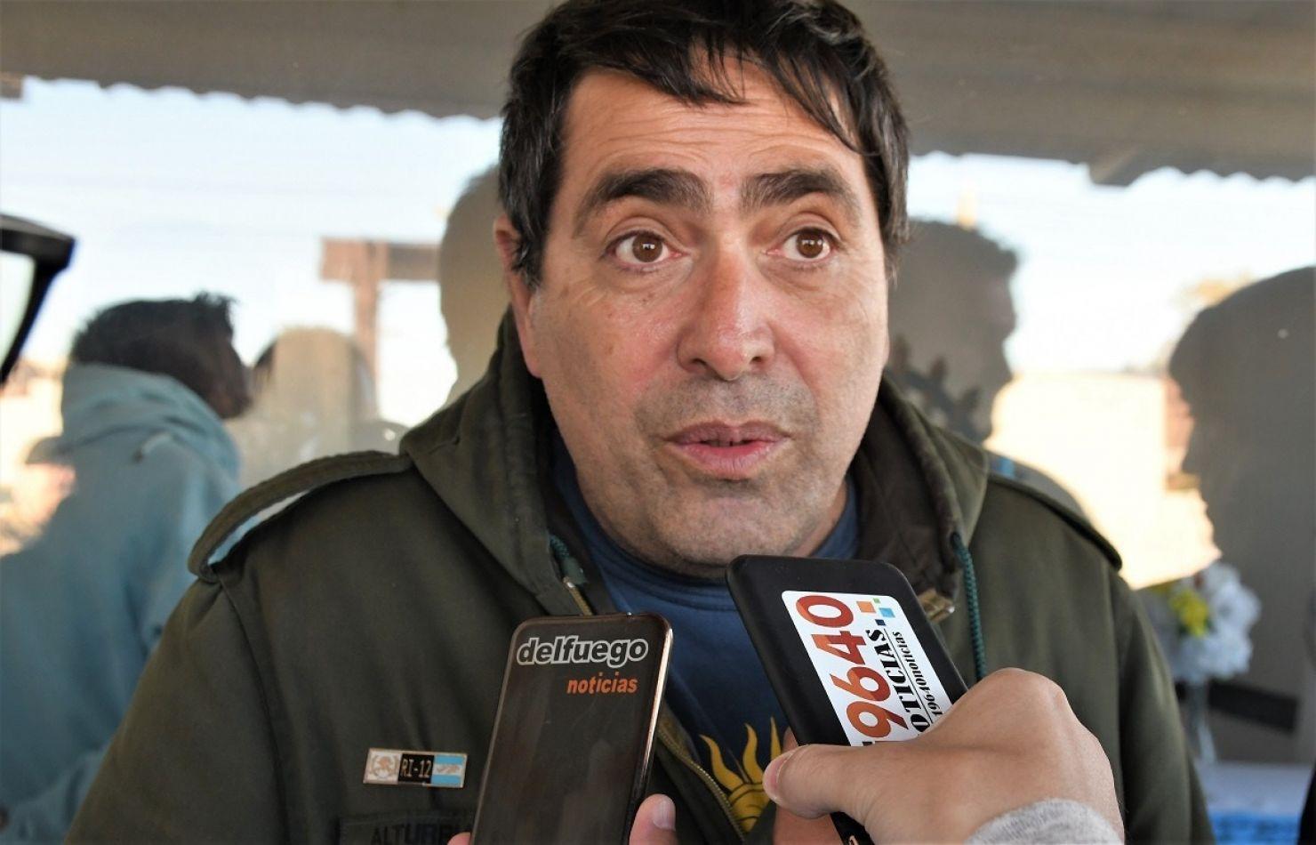 Fernando Alturria, presidente del Centro de Veteranos de Guerra del Malvinas de Rio Gallegos.