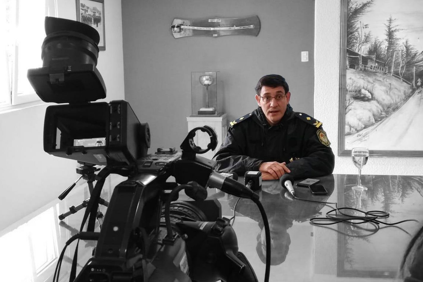 Saúl Silva, jefe de la Comisaría 3ra. de Ushuaia.