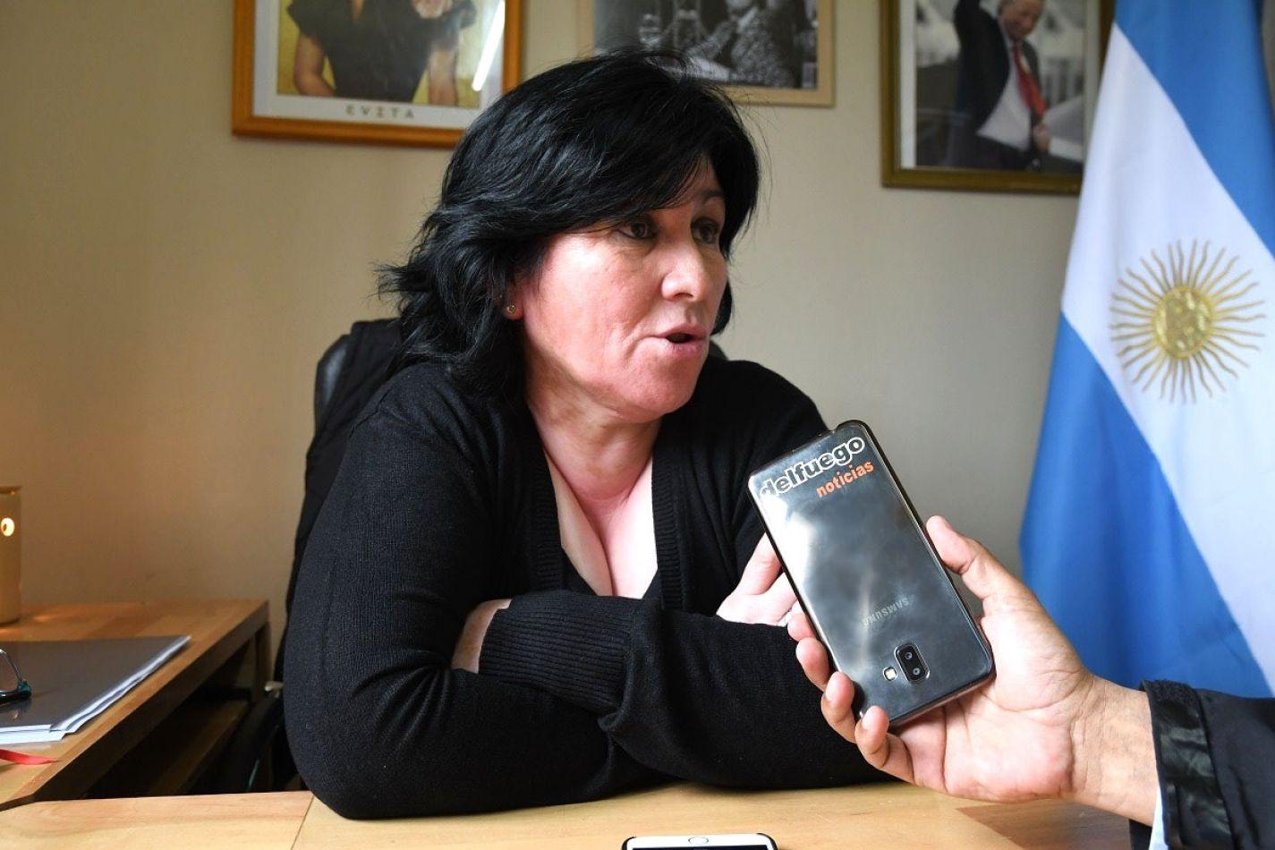 Jeanette Alderete, presidente del Concejo Deliberante de Tolhuin.