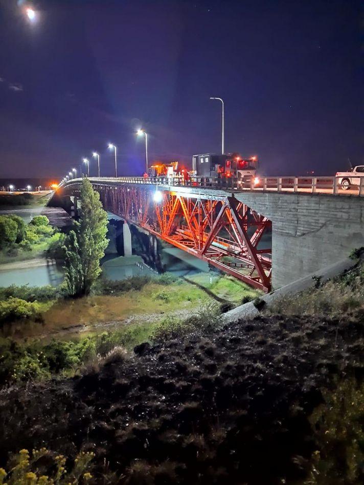 Finalizó la reparación del puente de río Santa Cruz