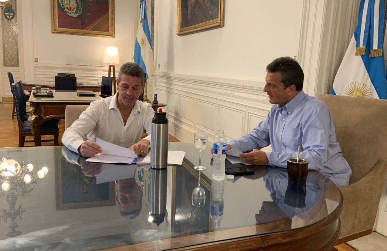 Sergio Massa ratificó a Löffler su predisposición para ayudar a Tierra del Fuego