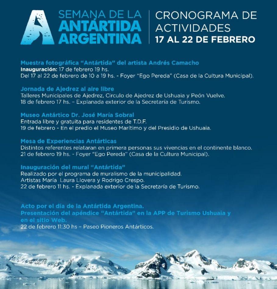 "Agenda de la ""Semana Antártica"""