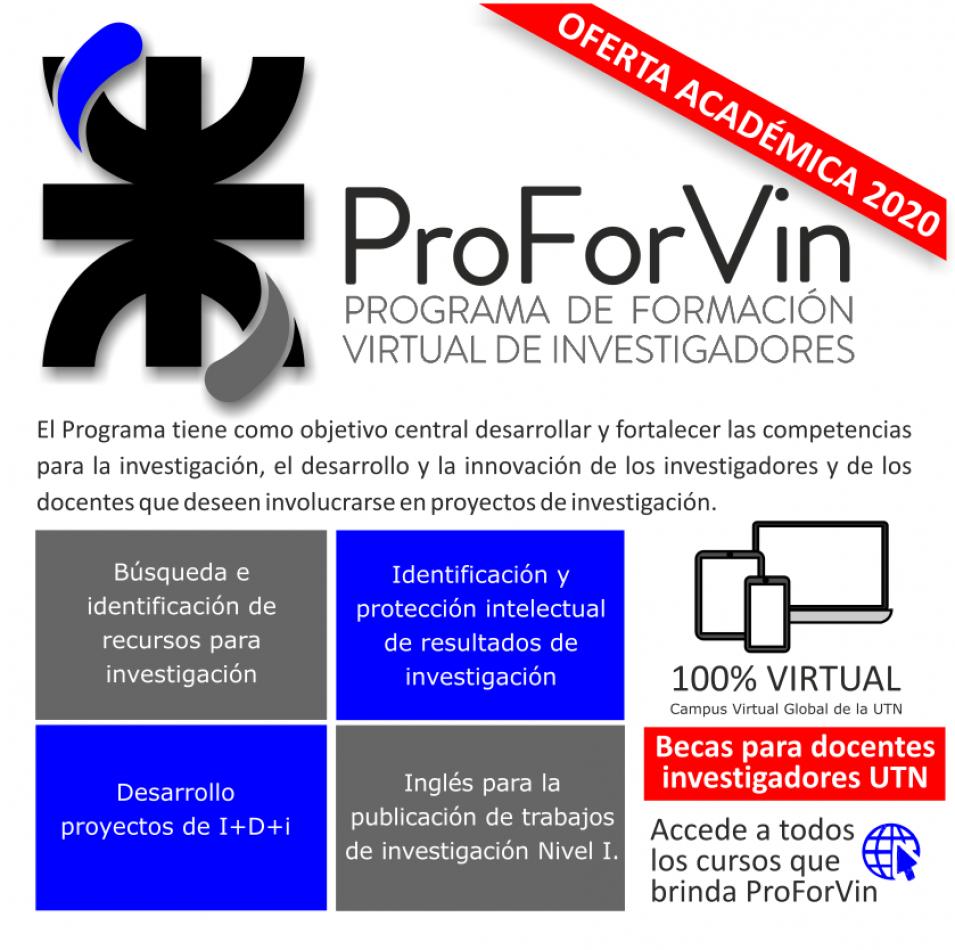informa que está abierta la inscripción a cuatro cursos del Programa de Formación Virtual de Investigadores.