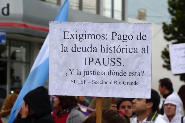 La situación del IPAUSS amerita para el SUTEF, una medida de fuerza.
