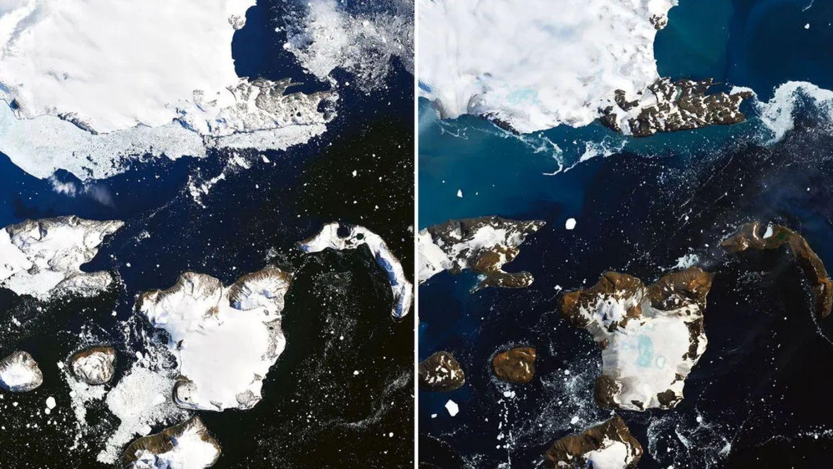 La Antártida está perdiendo su color blanco tan característico