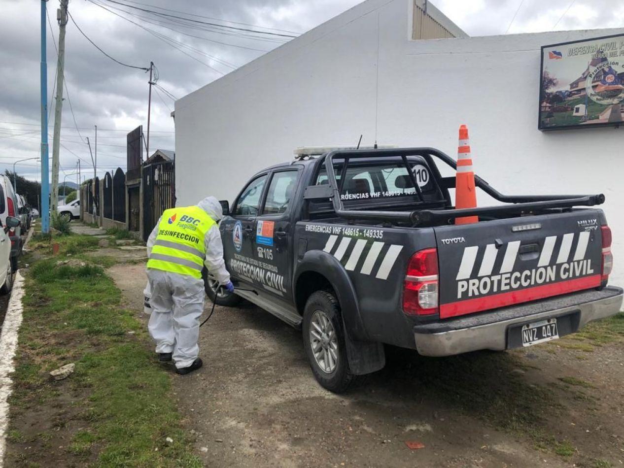 Protección Civil toma precauciones en sus móviles