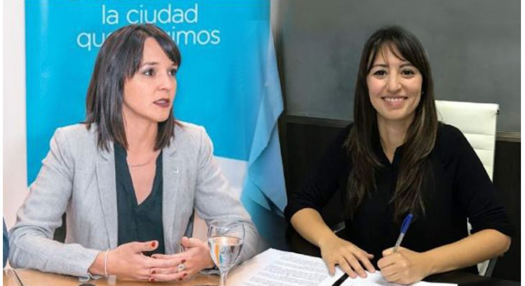 Representantes del Partido Verde en la Legislatura, Victoria Vuoto, Laura Colazo y Jorge Colazo.
