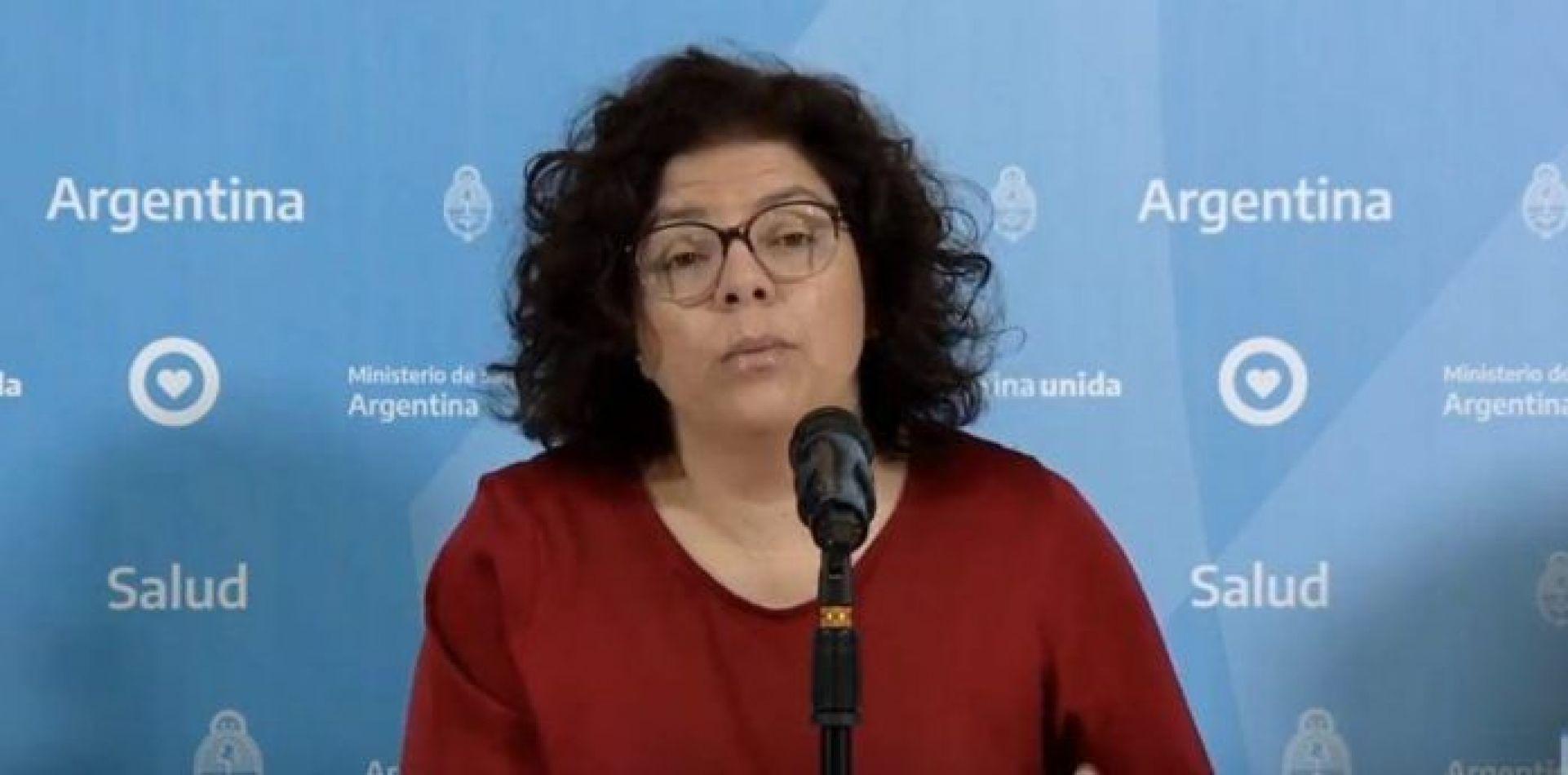 Secretaria de Acceso a la Salud, Carla Vizzotti,