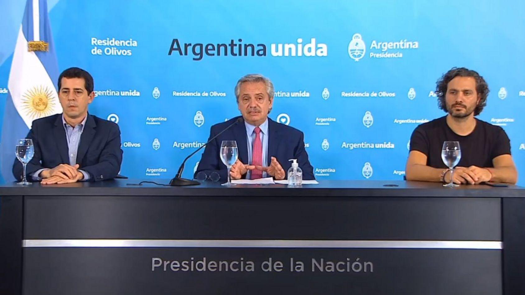 El presidente Alberto Fernández habló esta noche y confirmó la prolongación de la cuarentena hasta el 12 de abril.