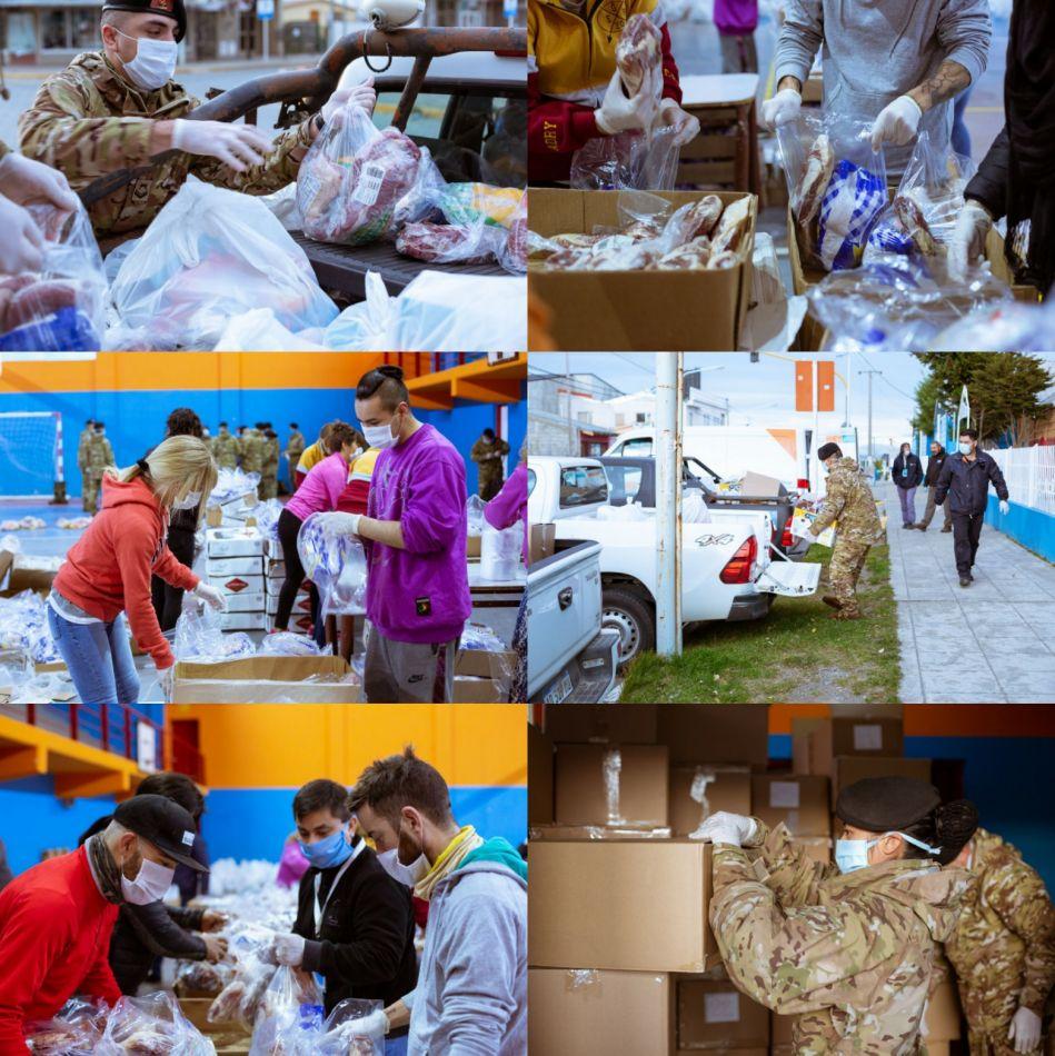 Continúa la entrega de módulos alimentarios a domicilio en toda la provincia