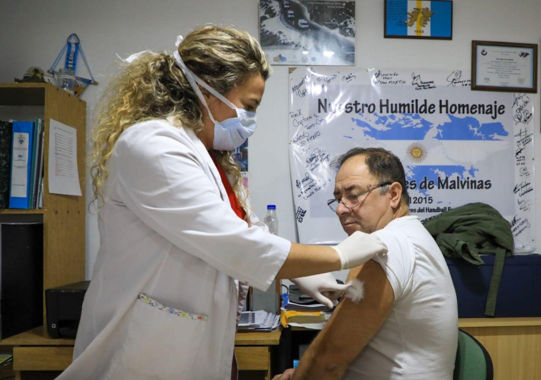 El Municipio inició campaña de vacunación antigripal para veteranos de Malvinas