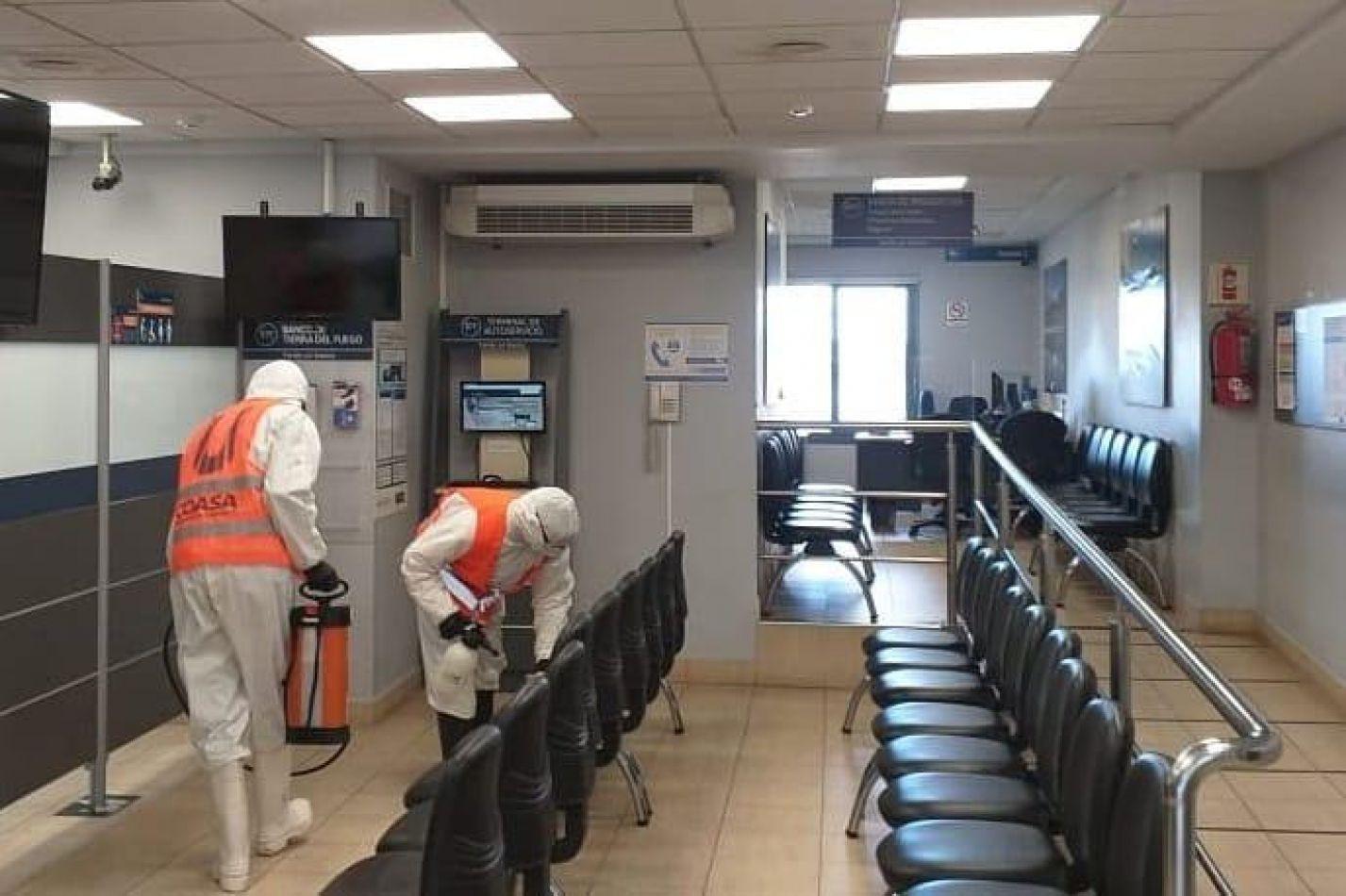 Municipio de Ushuaia acompaña las acciones de prevención en los bancos de la ciudad