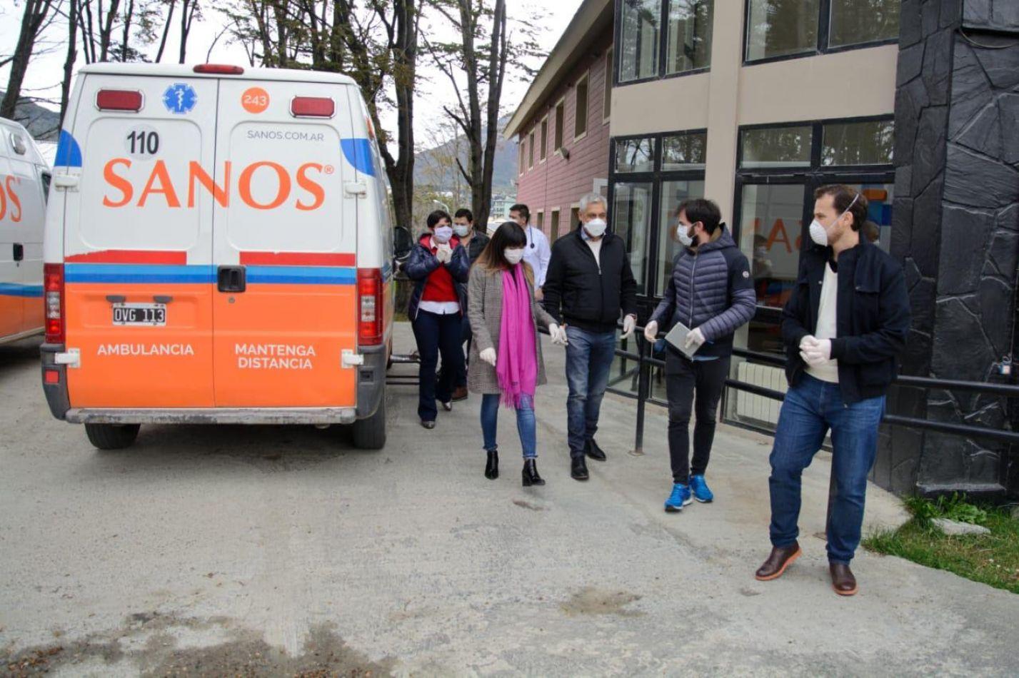 Punto de emergencia sanitaria móvil en el barrio Mirador de los Andes de Ushuaia