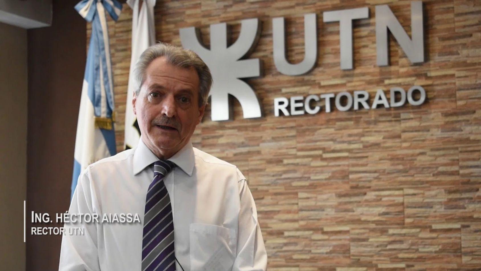 Rector de la Universidad Tecnológica Nacional, Héctor Aiassa