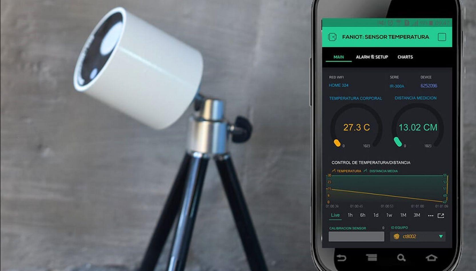 La Fabrica Argentina de NanoSensores IOT (FANIoT), perteneciente al Gobierno de Misiones probó con éxito los primeros prototipos de termómetros .