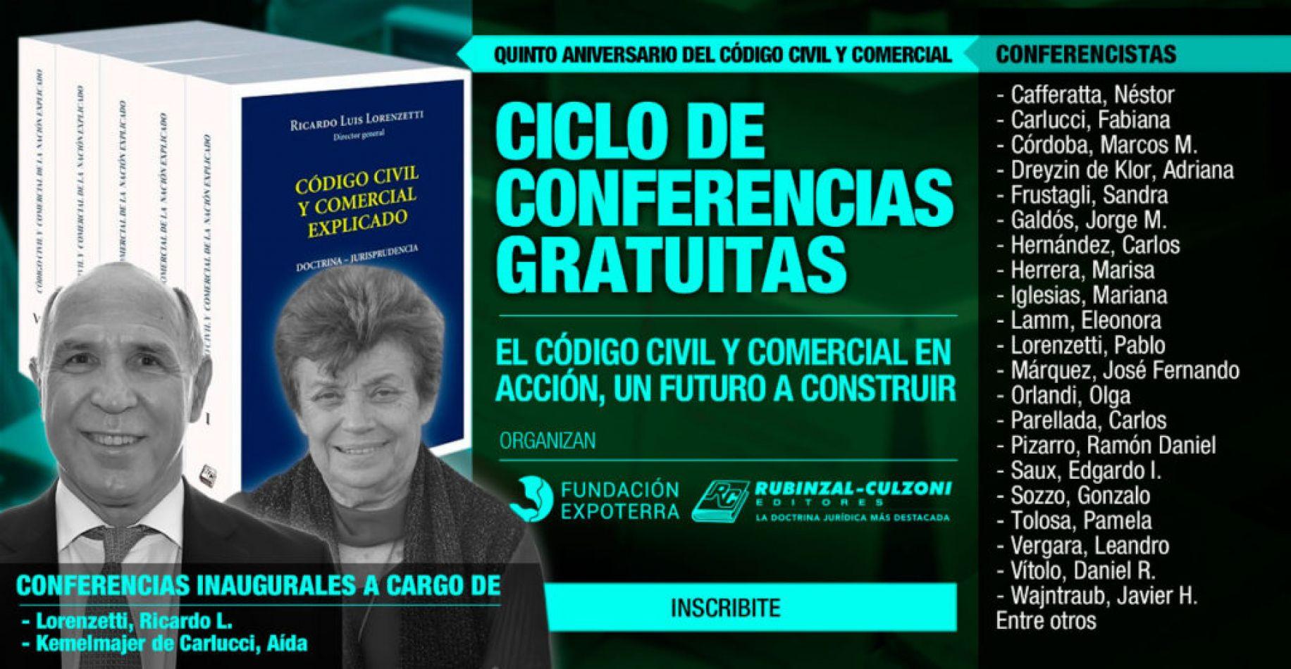 """Desarrollan conferencias gratuitas sobre """"El Código Civil y Comercial en acción, un futuro a construir"""""""