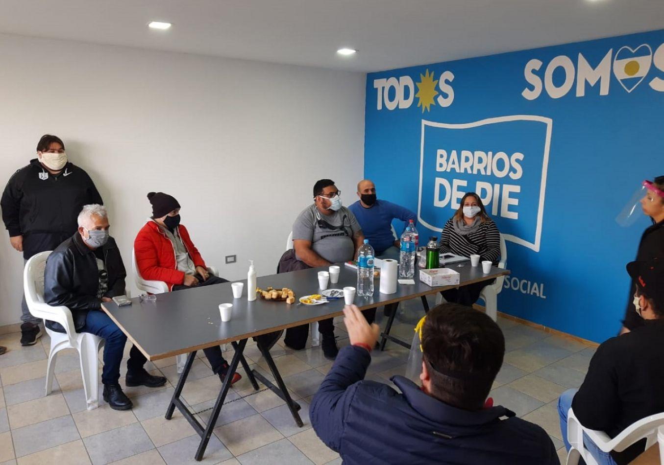 Multisectorial se reunió en la sede de Barrios de Pie en la margen sur.