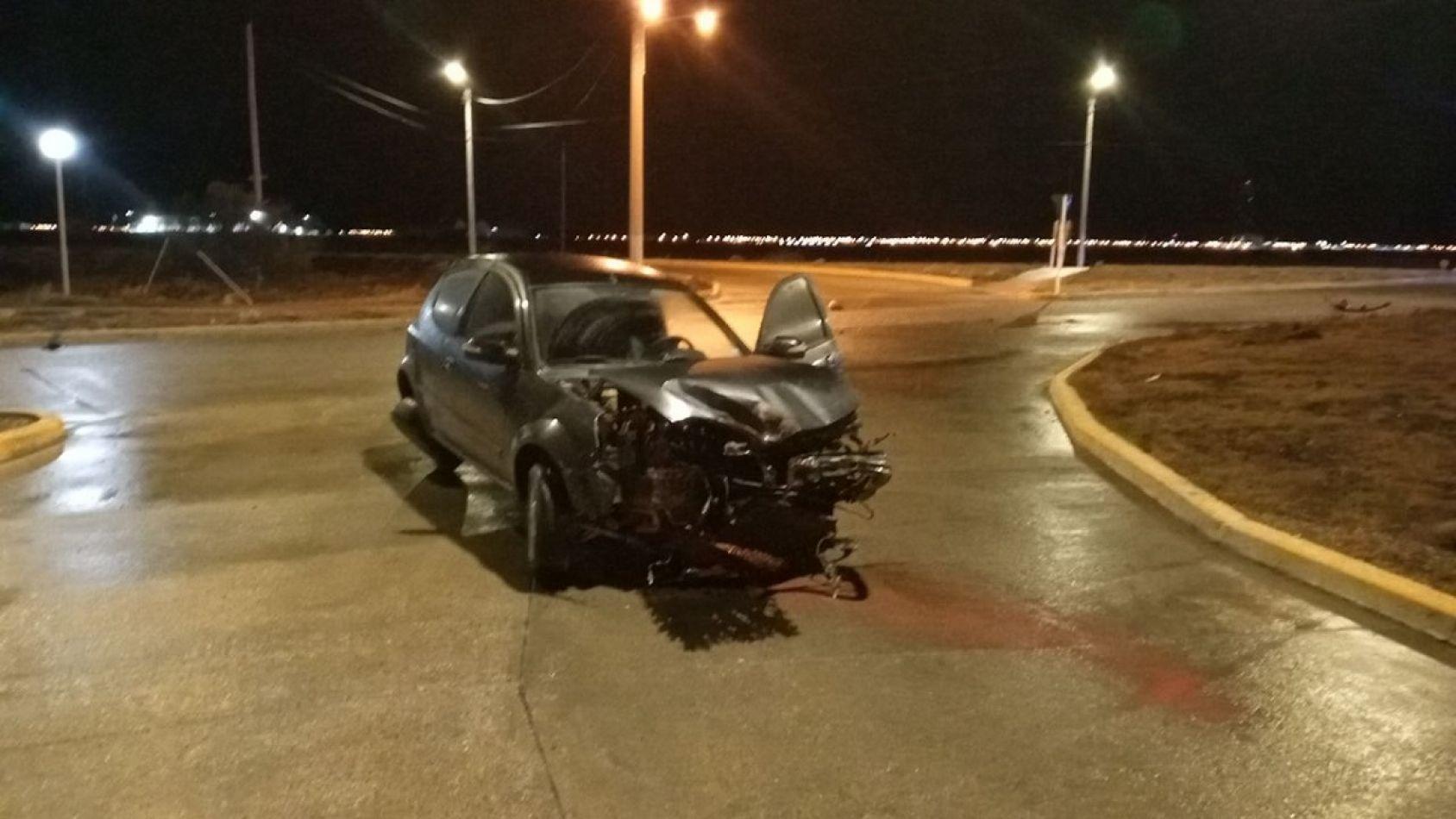 Estado en que quedó el vehículo luego del incidente.