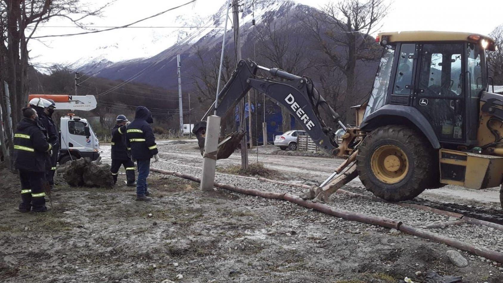 Se realizan tareas en la Estación Presurizadora de Agua Potable N2