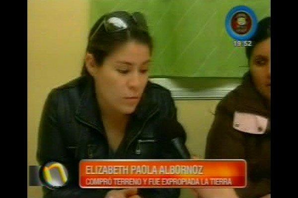 Elizabeth Albornoz es una de las damnificadas.