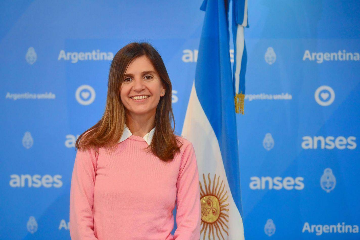 La directora ejecutiva de la ANSES, Fernanda Raverta.