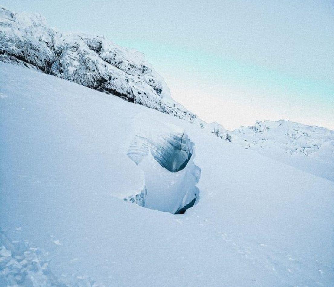 Grietas en el sector del Glaciar Martial