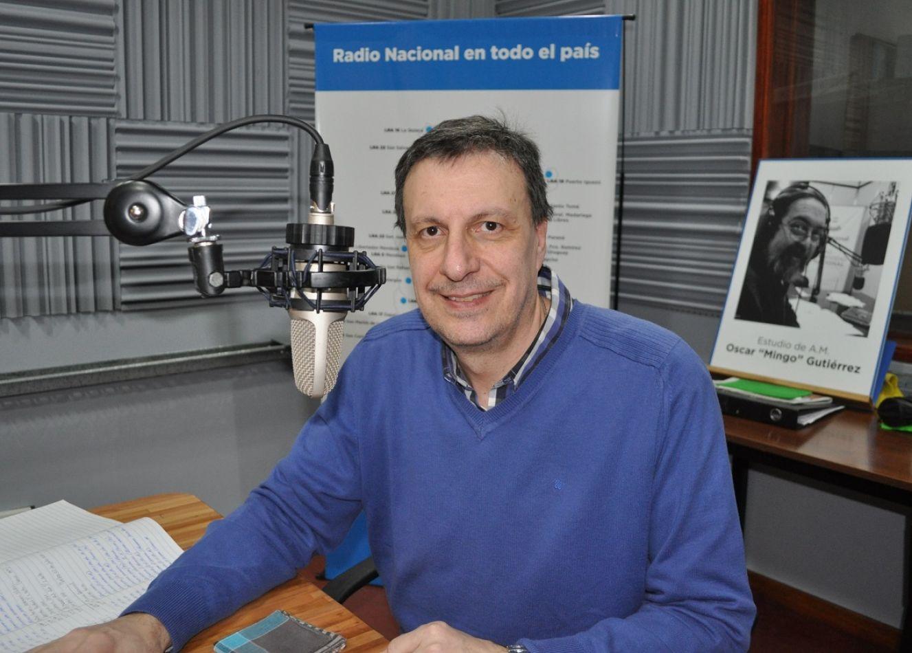 Fernando Tropea, locutor de Radio Nacional Río Grande.