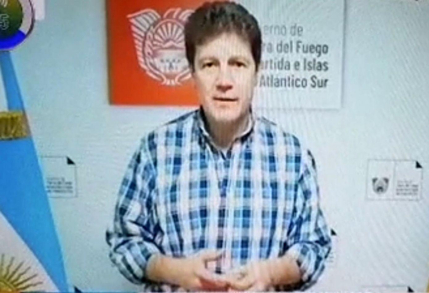 Mediante un mensaje televisivo, el gobernador anunció restricción total para Río Grande.