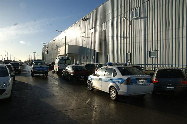 La policía acudió rápidamente al Parque Industrial.