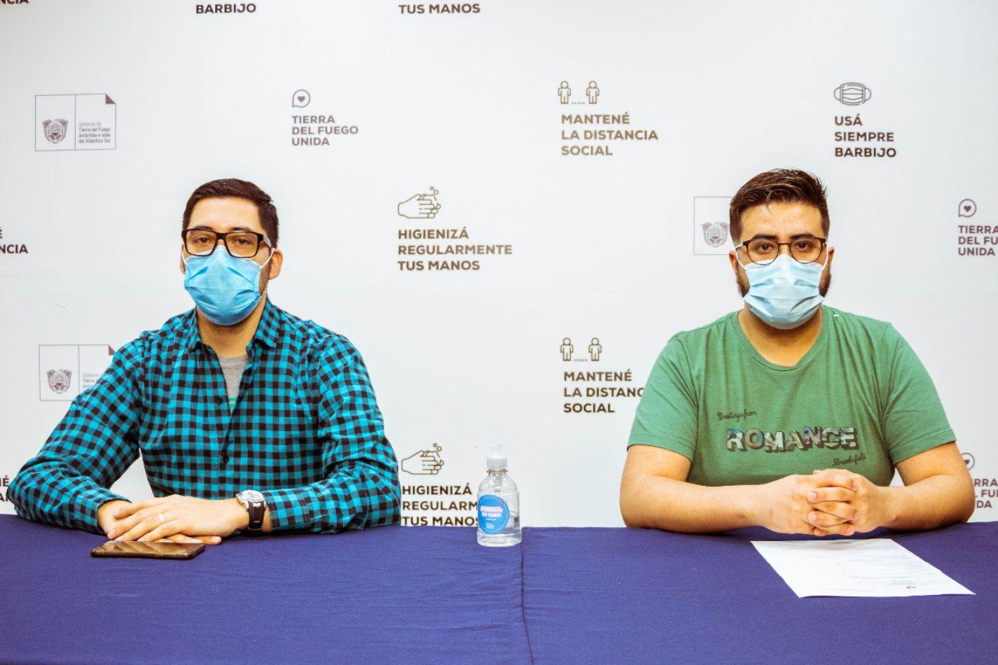 Funcionarios de Salud, dando detalle del parte epidemiológico del día domingo 13 de septiembre del 2020.