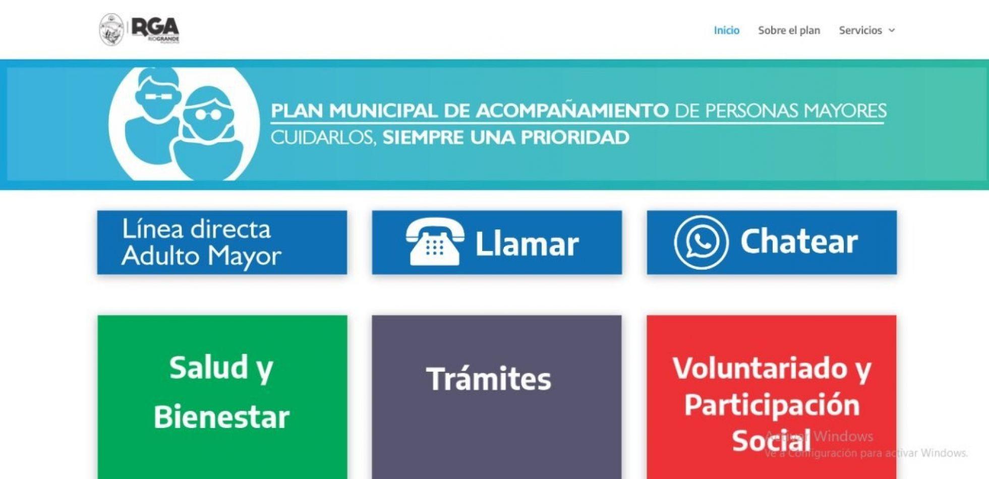 Plan de Acompañamiento de Personas Mayores', que impulsa el Municipio de Río Grande.
