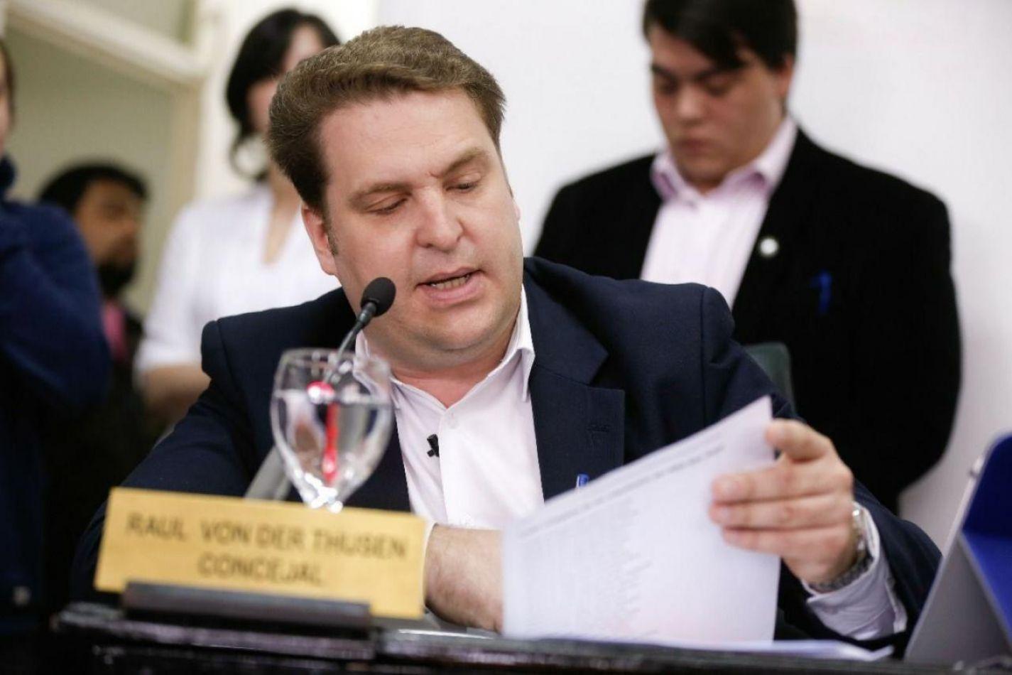 Presidente del Concejo Deliberante Raúl von der Thusen .
