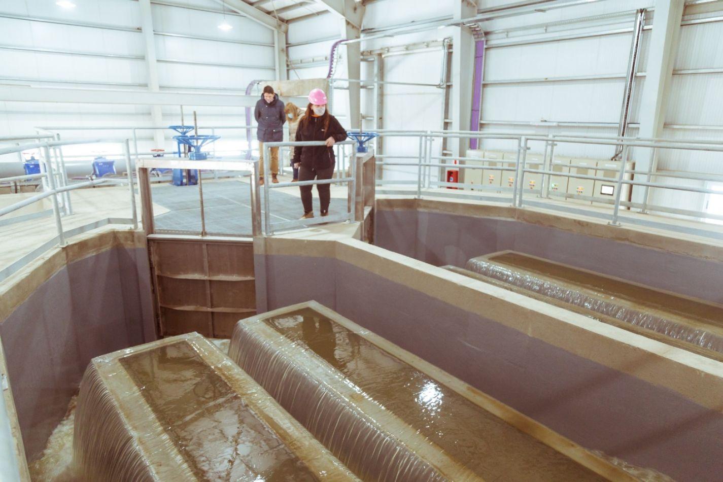 Última etapa de la planta de tratamiento cloacal en Ushuaia